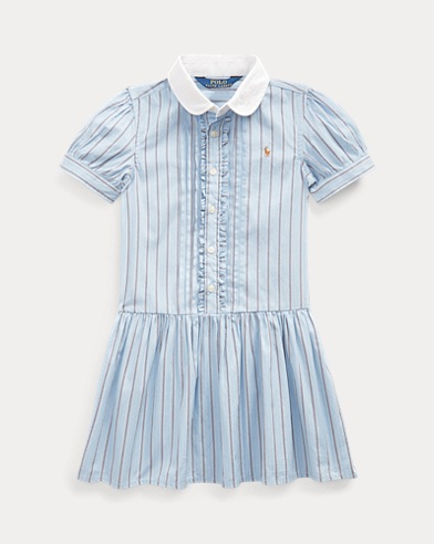 폴로 랄프로렌 여아용 셔츠원피스 Polo Ralph Lauren Striped Cotton Shirtdress,Blue Multi
