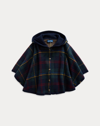 폴로 랄프로렌 걸즈 판초 Polo Ralph Lauren Plaid Merino Wool Poncho,Multi Plaid