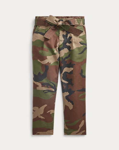 폴로 랄프로렌 Polo Ralph Lauren Belted Cotton Paperbag Pant,Camo