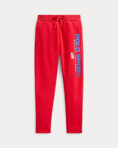 폴로 랄프로렌 여아용 팬츠 Polo Ralph Lauren Polo Sport Fleece Pant,RL 2000 Red