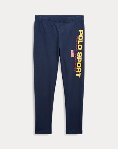폴로 랄프로렌 여아용 레깅팬츠 Polo Ralph Lauren Polo Sport Jersey Legging,Cruise Navy