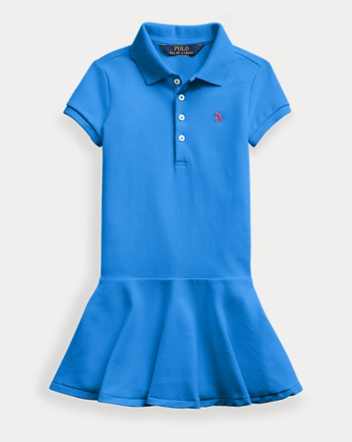 폴로 랄프로렌 여아용 원피스 Polo Ralph Lauren Stretch Mesh Polo Dress,Colby Blue