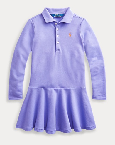 폴로 랄프로렌 여아용 원피스 Polo Ralph Lauren Stretch Cotton Mesh Polo Dress,Hyacinth