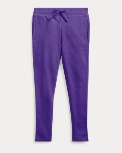 폴로 랄프로렌 Polo Ralph Lauren Cotton-Blend French Terry Pant,Purple Rage