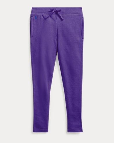 폴로 랄프로렌 여아용 팬츠 Polo Ralph Lauren Cotton-Blend French Terry Pant,Purple Rage
