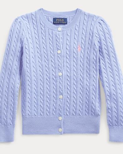 폴로 랄프로렌 걸즈 가디건 Polo Ralph Lauren Cable-Knit Cotton Cardigan,Fall Blue
