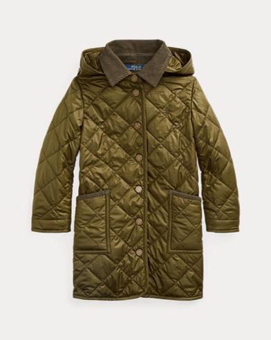 폴로 랄프로렌 여아용 자켓 Polo Ralph Lauren Long Quilted Barn Jacket,Spanish Olive