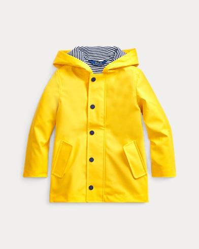 폴로 랄프로렌 여아용 레인코트 Polo Ralph Lauren Hooded Raincoat,Yellowfin
