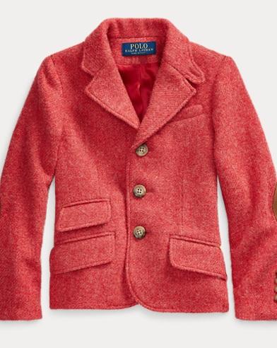 폴로 랄프로렌 여아용 자켓 Polo Ralph Lauren Wool Twill Hacking Jacket,Red