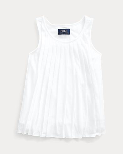 폴로 랄프로렌 Polo Ralph Lauren Pleated Jersey Swing Top,White
