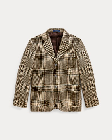 폴로 랄프로렌 보이즈 코트 Polo Ralph Lauren Plaid Wool-Silk Sport Coat,Multi