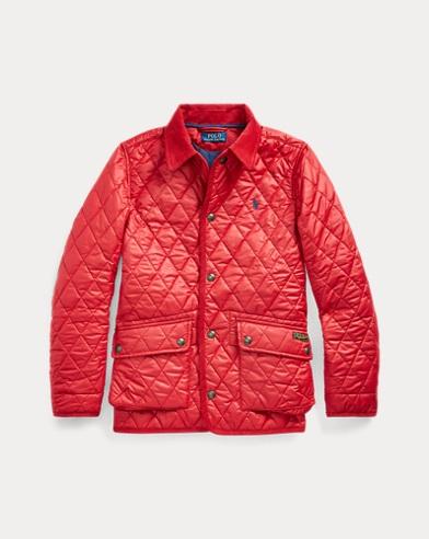 폴로 랄프로렌 보이즈 자켓 Polo Ralph Lauren Water-Resistant Quilted Jacket,Camden Red