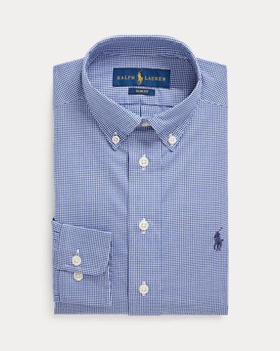 폴로 랄프로렌 Polo Ralph Lauren Slim Fit Cotton Dress Shirt,Navy Multi