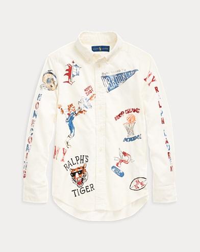 폴로 랄프로렌 Polo Ralph Lauren Cotton Corduroy Graphic Shirt,Nevis