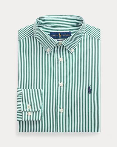 폴로 랄프로렌 보이즈 스트라이프 드레스 셔츠 - 그린 (슬림핏) Polo Ralph Lauren Slim Fit Cotton Dress Shirt,Green Multi