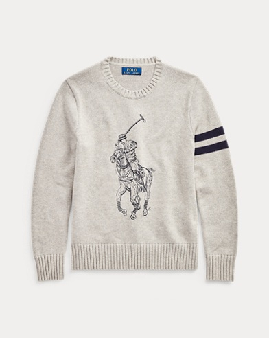 폴로 랄프로렌 보이즈 스웨터 Polo Ralph Lauren Big Pony Cotton Sweater,Dark Sport Heather