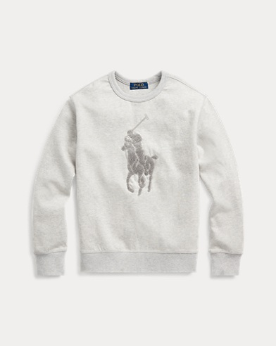 폴로 랄프로렌 보이즈 스웻셔츠 Polo Ralph Lauren Cotton-Blend Sweatshirt,Light Grey Heather