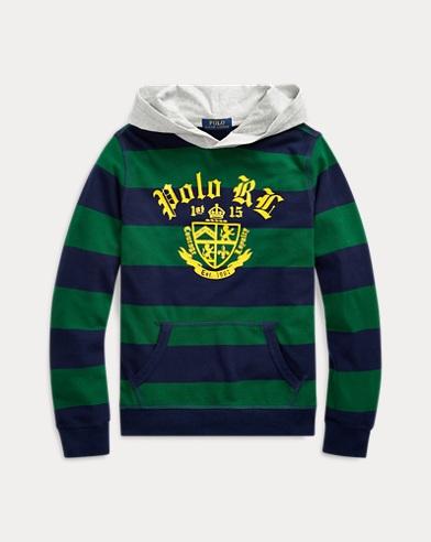 폴로 랄프로렌 Polo Ralph Lauren Cotton Mesh Graphic Hoodie,Athletic Green