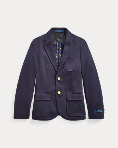 폴로 랄프로렌 보이즈 니트 코튼 블레이저 Polo Ralph Lauren Knit Cotton Sport Coat,RL Navy