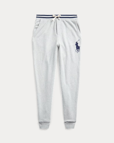 폴로 랄프로렌 보이즈 팬츠 Polo Ralph Lauren Cotton French Terry Pant,Lt Grey Heather