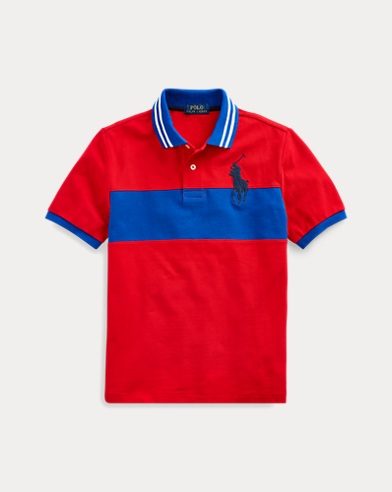 폴로 랄프로렌 보이즈 메쉬 폴로 셔츠 Polo Ralph Lauren Embroidered Cotton Mesh Polo,RL 2000 Red