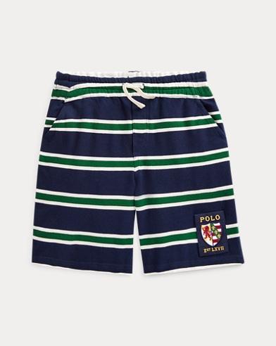 폴로 랄프로렌 Polo Ralph Lauren Striped Cotton Mesh Short,French Navy Multi