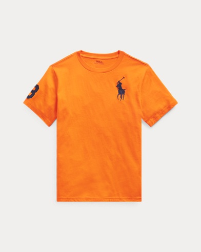 폴로 랄프로렌 보이즈 티셔츠 Polo Ralph Lauren Big Pony Cotton Jersey Tee,Bright Signal Orange