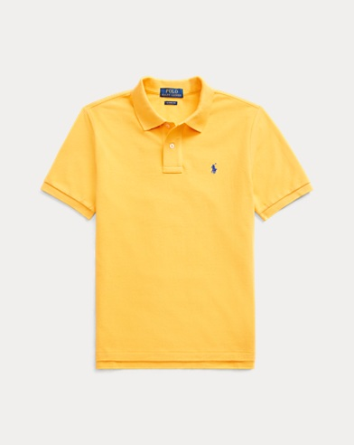 폴로 랄프로렌 보이즈 폴로 셔츠 Polo Ralph Lauren Cotton Mesh Polo Shirt,Gold Bugle