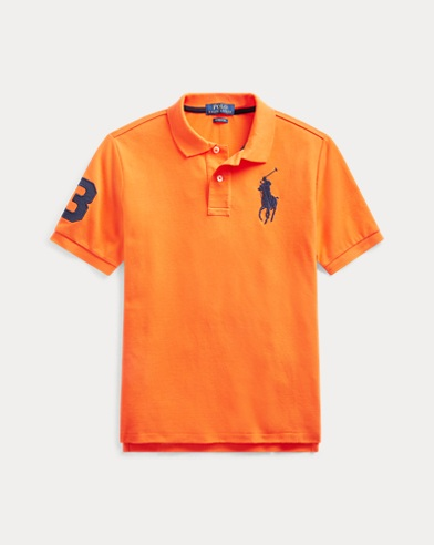 폴로 랄프로렌 보이즈 폴로 셔츠 Polo Ralph Lauren Cotton Mesh Polo Shirt,Bright Signal Orange