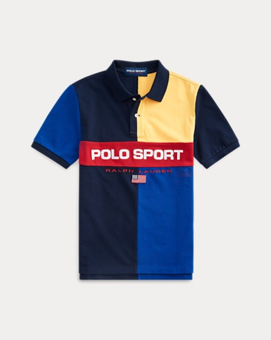 폴로 랄프로렌 보이즈 폴로 셔츠 Polo Ralph Lauren Polo Sport Cotton Mesh Polo,Cruise Navy Multi