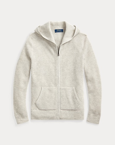폴로 랄프로렌 보이즈 스웨터 Polo Ralph Lauren Cashmere Hooded Sweater,Light Grey Heather