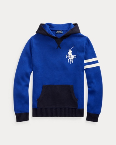 폴로 랄프로렌 보이즈 스웨터 Polo Ralph Lauren Cotton Hooded Sweater,Heritage Royal