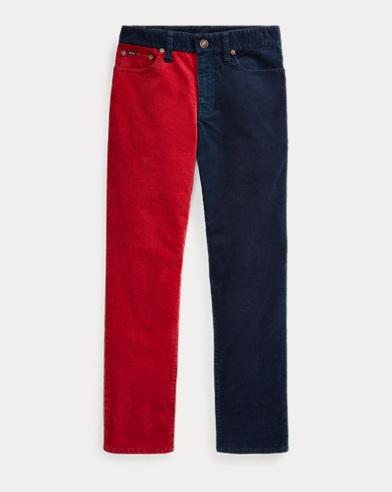 폴로 랄프로렌 Polo Ralph Lauren Varick Corduroy Skinny Pant,Navy Multi