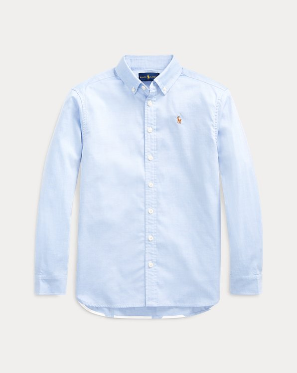 폴로 랄프로렌 걸즈 옥스포드 튜닉 Polo Ralph Lauren Pinpoint Cotton Oxford Tunic,Blue Hyacinth