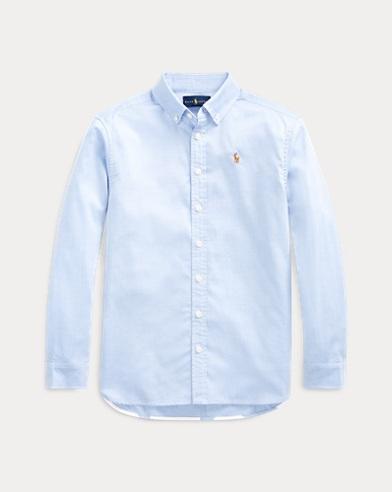 폴로 랄프로렌 Polo Ralph Lauren Pinpoint Cotton Oxford Tunic,Blue Hyacinth