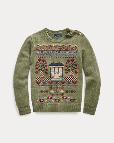 폴로 랄프로렌 Polo Ralph Lauren Intarsia Wool-Blend Sweater,Sampler Heather