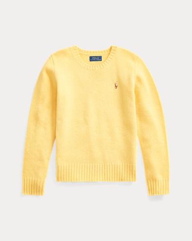 폴로 랄프로렌 걸즈 캐시미어 스웨터 Polo Ralph Lauren Wool-Cashmere Crewneck Sweater,Fall Yellow