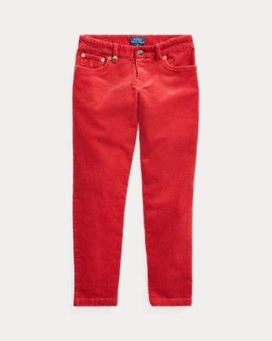 폴로 랄프로렌 Polo Ralph Lauren Stretch Skinny Corduroy Pant,New Red