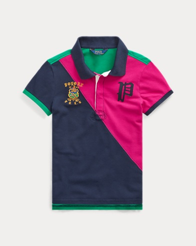 폴로 랄프로렌 걸즈 폴로 셔츠 Polo Ralph Lauren Pieced Stretch Mesh Polo,Sport Pink