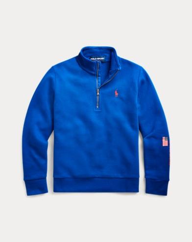 폴로 랄프로렌 걸즈 풀오버 스웨터 Polo Ralph Lauren Polo Sport Fleece Pullover,Sapphire Star