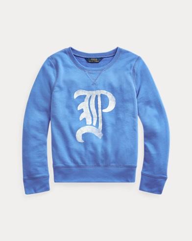 폴로 랄프로렌 Polo Ralph Lauren French Terry Graphic Pullover,Colby Blue