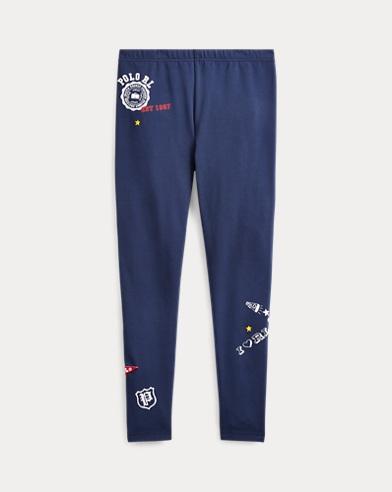 폴로 랄프로렌 Polo Ralph Lauren Varsity Stretch Jersey Legging,French Navy