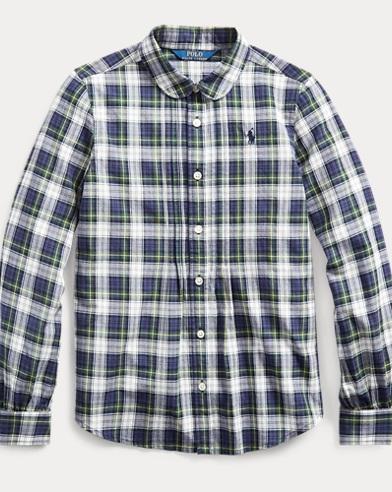 폴로 랄프로렌 Polo Ralph Lauren Plaid Cotton Shirt,Navy Green Multi