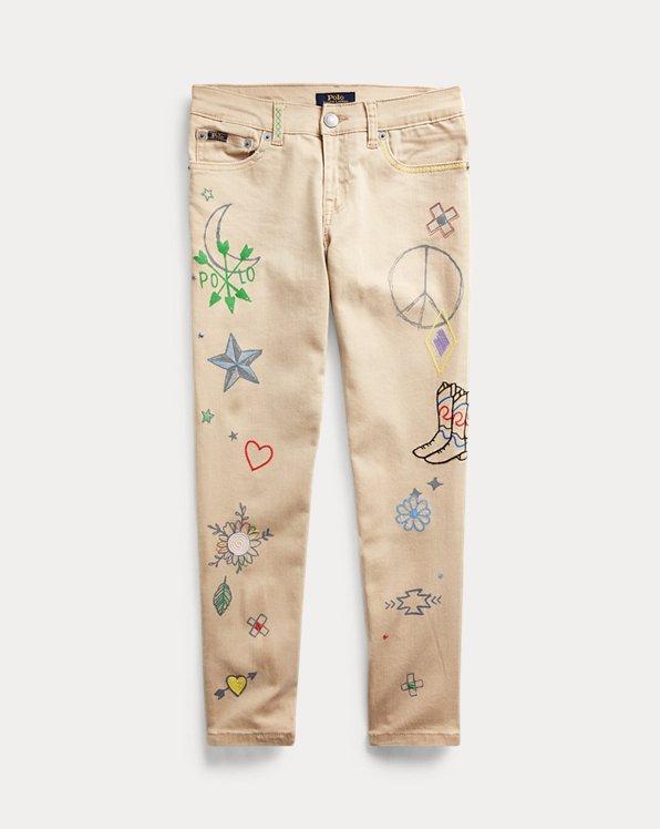 폴로 랄프로렌 걸즈 데님진 Polo Ralph Lauren Tompkins Skinny Doodle Jean,Rosamund Wash