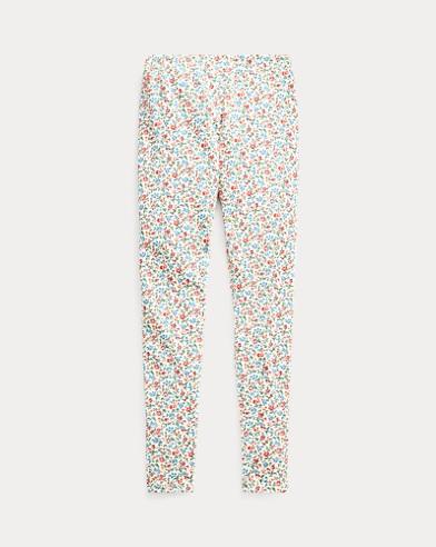 폴로 랄프로렌 Polo Ralph Lauren Floral Stretch Jersey Legging,Cream-pink-multi