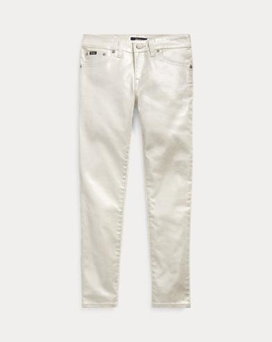 폴로 랄프로렌 Polo Ralph Lauren Tompkins Skinny Metallic Jean,Aura Wash
