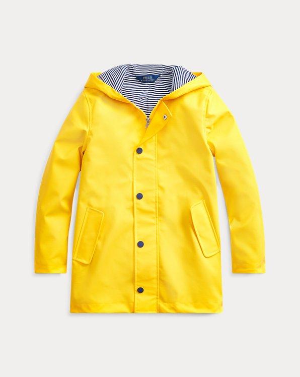 폴로 랄프로렌 걸즈 레인코트 Polo Ralph Lauren Hooded Raincoat,Yellowfin