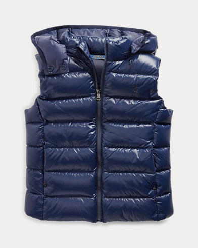 폴로 랄프로렌 걸즈 다운 조끼 Polo Ralph Lauren Quilted Down Vest,French Navy