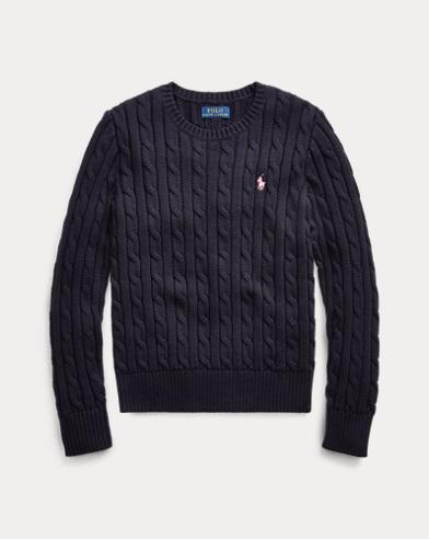 폴로 랄프로렌 Polo Ralph Lauren Cable-Knit Cotton Sweater,RL Navy