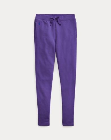 폴로 랄프로렌 Polo Ralph Lauren Cotton-Blend French Terry Pant,Purple Rage
